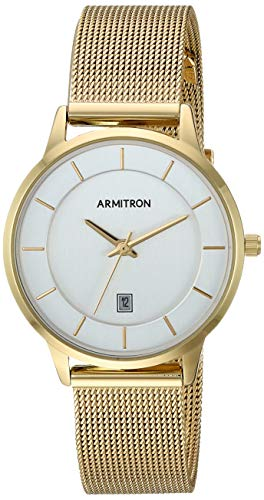 Armitron Women's Date Function Gold-Tone Mesh Bracelet Watch