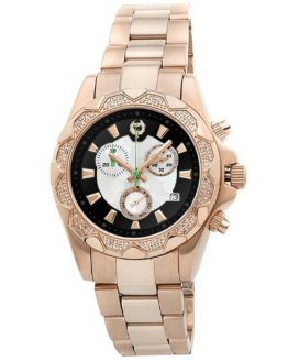 Brillier Women's Analog Display Swiss Quartz Rose Gold Watch