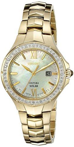 Seiko Women's Coutura Analog Display Japanese Quartz Gold Watch