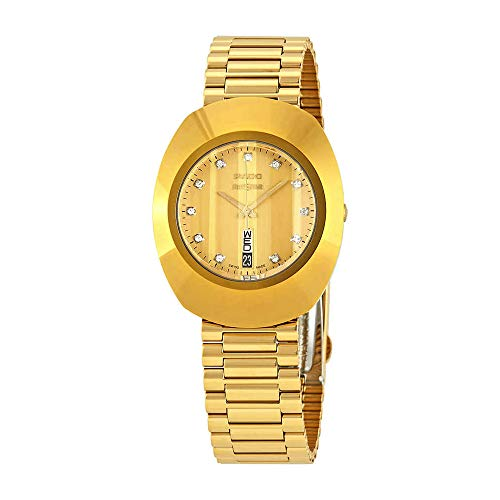 Rado The Original L Diamond Gold Dial Ladies Watch