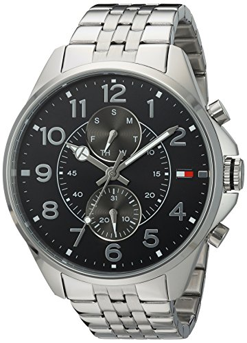 Tommy Hilfiger Men's Quartz Stainless Steel Casual Watch, Color:Silver-Toned