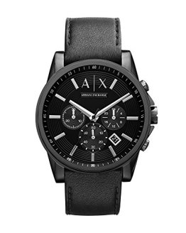 Armani Exchange Men's AX2098 Black Leather Watch