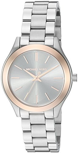 Michael Kors Women's Mini Slim Runway Silver-Tone Watch