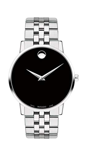 Movado Men's Museum Stainless Steel Watch with Concave Dot Museum Dial