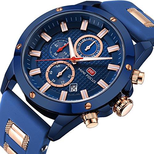 Men Business Watches Chronograph, Mini Focus Fashion Waterproof Wrist Watch
