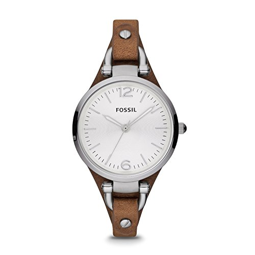 Fossil Women's Georgia Quartz and Leather Casual Watch