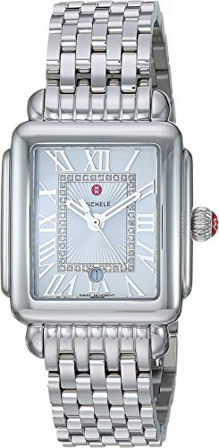 Michele Women's Deco Madison Mid Silver - Stainless Steel/Silver/White