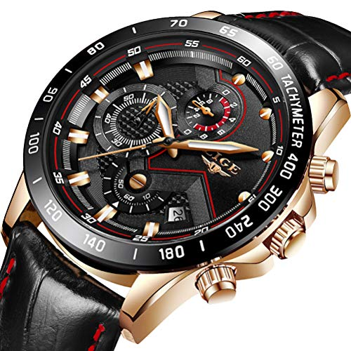Mens Watches Luxury Brand LIGE Fashion Casual Sports