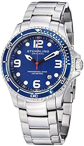 "Stuhrling Original Mens ""Specialty Grand Regatta"" Stainless Steel Professional Watch"