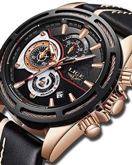 Mens Watches Fashion Sports Analog Quartz Watch Men