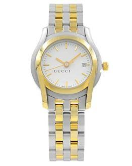 Gucci White Sticks Dial Two Tone Steel Quartz Ladies Watch