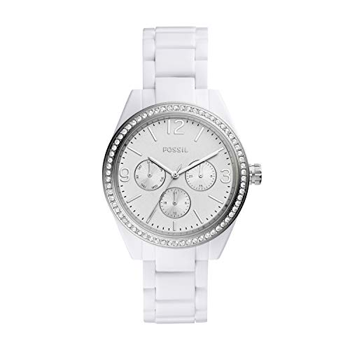 Fossil Women's ' Caleigh Quartz Resin Watch, Color:White