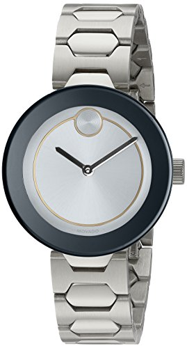 Movado Women's Swiss Quartz Stainless Steel Watch, Color: Silver-Toned