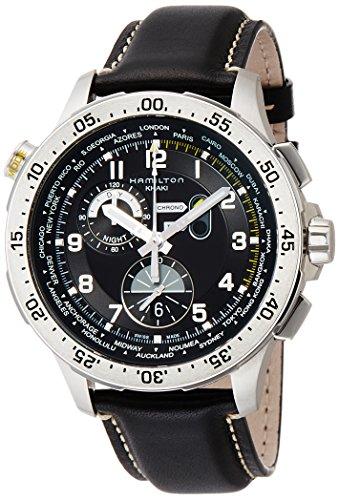 Hamilton Worldtimer Chronograph Black Dial Mens Watch