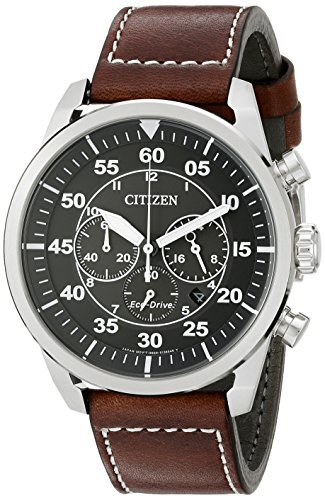 Citizen Men's Eco-Drive Stainless Steel Chronograph Watch with Date