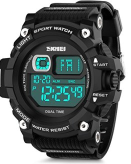 Men's Digital Sports Watch, Aposon Military Electronic Wrist Watch Alarm Back