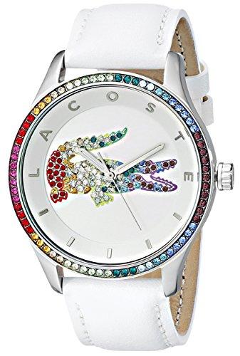 Lacoste Women's Quartz Movement Victoria Watch, White/Multi