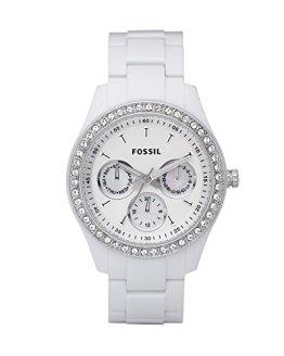 Fossil Women's Stella Quartz Resin Dress Watch, White