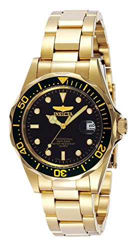 Invicta Men's Pro Diver Collection 23k Gold Plated Watch