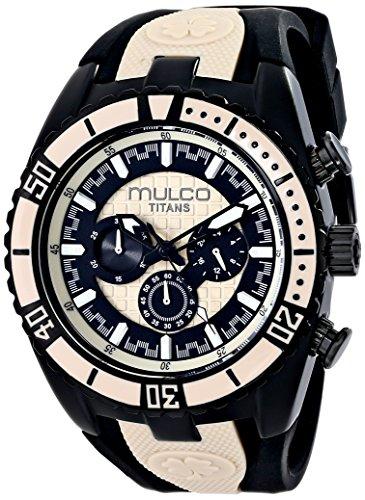MULCO Unisex 15 Titan Wave Analog Display Japanese Quartz Black Watch