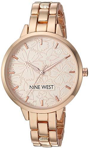 Nine West Women's Rose Gold-Tone Bracelet Watch