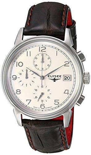 Elysee Men's Classic-Edition Analog Display Quartz Brown Watch