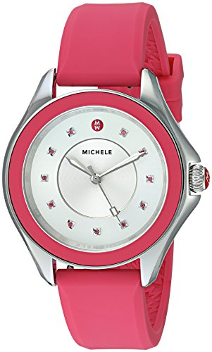MICHELE Women's 'Cape Topaz' Quartz Stainless Steel and Silicone Casual Watch