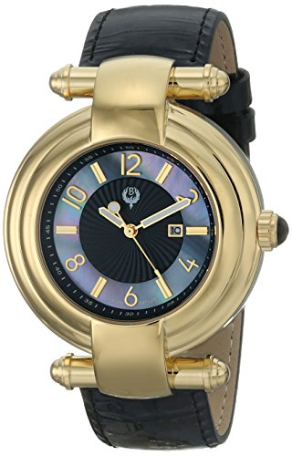 Brillier Women's Klassique Analog Display Quartz Black Watch