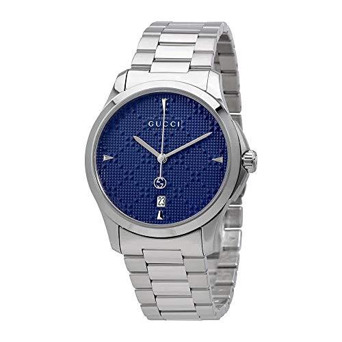 Gucci G-Timeless Diamante Blue Dial Ladies Watch