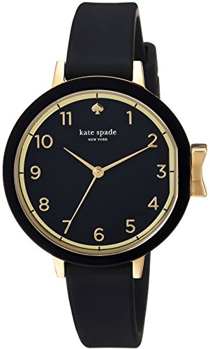 kate spade new york Women's Park Row Silicone Stainless Steel Watch