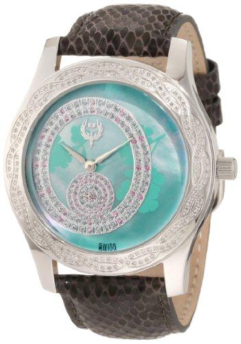 Brillier Women's 'Kalypso' Swiss Quartz Stainless Steel Watch