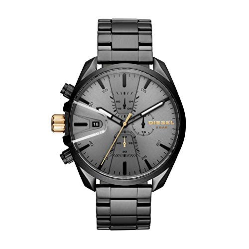 Diesel Men's Ms9 Chrono Quartz Watch with Stainless-Steel Strap