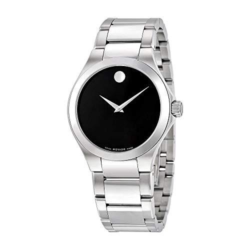 Movado Defio Black Dial Stainless Steel Men's Watch 0606333