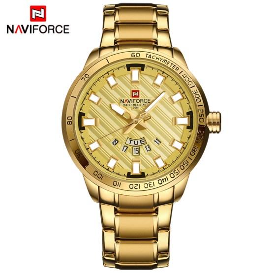 New NAVIFORCE Luxury Brand Watches Men Sport Full Steel Quartz Watch