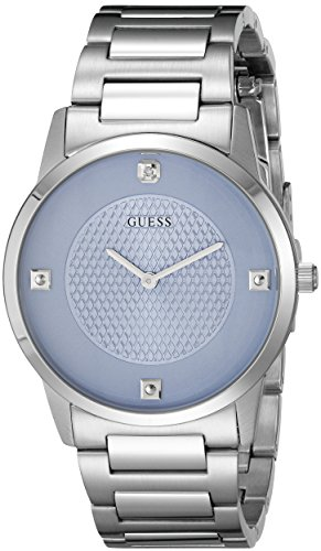 GUESS Men's Diamond-Accented Stainless Steel Watch