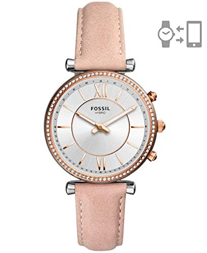 Fossil Women's Carlie Stainless Steel Hybrid Smartwatch Watch