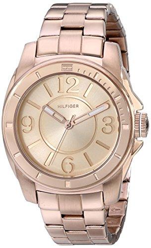 Tommy Hilfiger Women's Sport Rose Gold Plated Stainless Steel Bracelet Watch