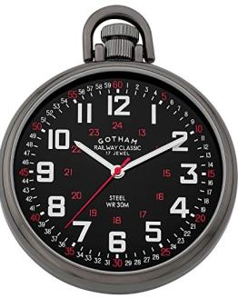 Gotham Men's Stainless Steel Pocket Watch