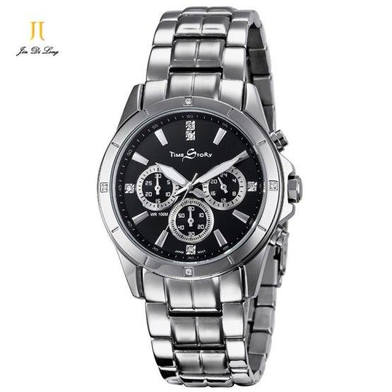 2 *#Luxury Fashion Business Casual Watch Men Quartz Diamond Wrist Watches