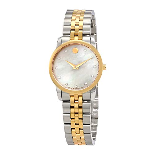 Movado Museum Classic White Mother of Pearl Dial Ladies Watch