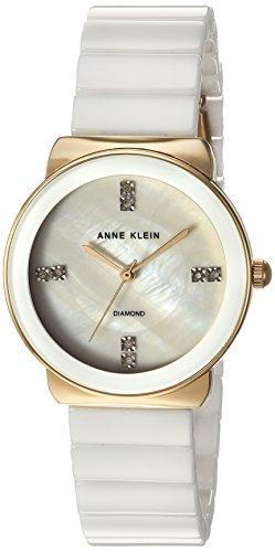 Anne Klein Women's Diamond-Accented Gold-Tone Watch
