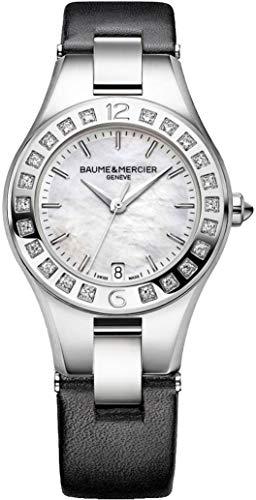 Baume & Mercier Linea Steel on Black Leather Strap Women's Watch
