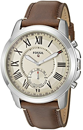 Fossil Q Men's Grant Stainless Steel and Leather Hybrid Smartwatch