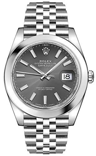 Men's Rolex Datejust 41 Dark Rhodium Oystersteel Watch