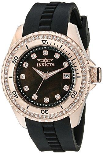 Invicta Women's Wildflower Analog Display Quartz Black Watch