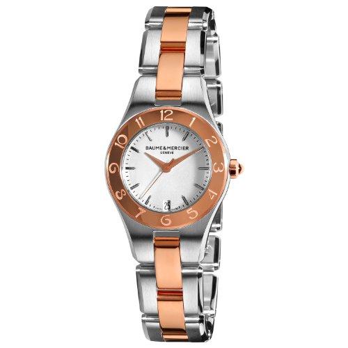 Baume & Mercier Women's Linea Silver Dial Two Tone Watch