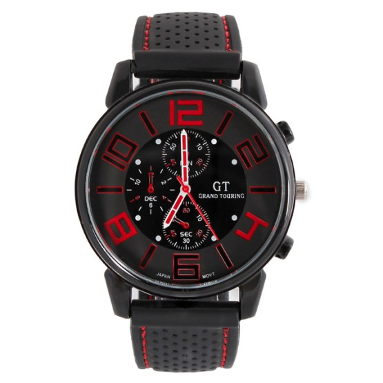 Top Brand Xfcs GT F1 Car Racing Big Dial Men Sport Watches Silicone Band