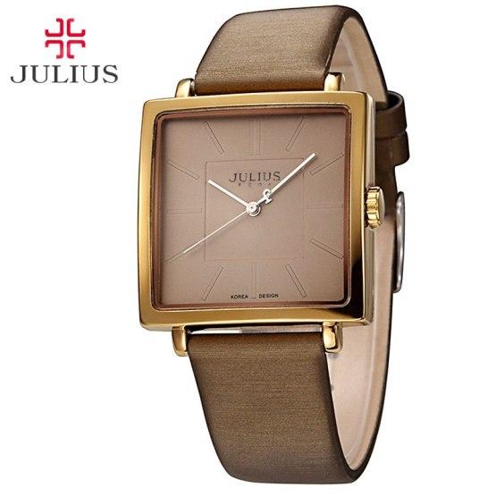 Top Julius Lady Women's Wrist Watch Elegant Simple Square Fashion