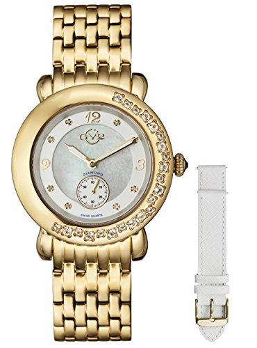GV2 by Gevril Marsala Gemstone Womens With Gemstones Watch