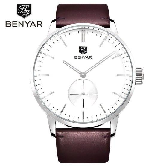 Benyar 2019 Fashion Quartz Watch Men Watches Top Brand Luxury